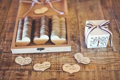 How original are these wooden hearts to write down your wishes for the newlyweds at the reception? See more here: http://www.StyleConcept.gr/en