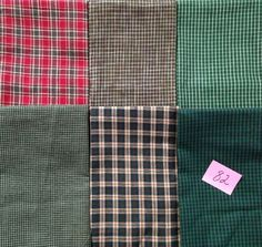 12 FAT QUARTERS or 6 HALF YDS QUILT quilting FABRIC multi PLAID HOMESPUN #82 new #HOMESPUN