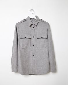 MAISON MARGIELA LINE 4 | Wool Felted Shirt Jacket | Shop at La Garçonne