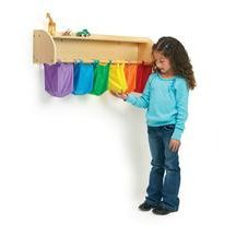 Sensory Discovery Shelf.  This would be neat for tactile sensory and color sorting too.