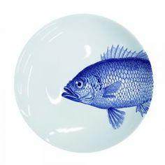 Τραπέζι απόλυτα καλοκαιρινό | Small Things Guest Toilet, Coastal Living, Dinner Plates, Kitchen Dining, Decorative Plates, Porcelain, Fish, Ebay, Tableware