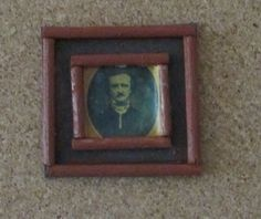 Picture of E.A. Poe - actually it is in Sherlocks bedroom