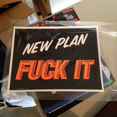 New plan...