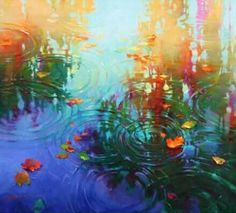 Fall Canvas Painting, Autumn Painting, Impressionist Paintings, Landscape Paintings, Landscapes, Water Lilies Painting, Water Art, Claude Monet, Belle Photo