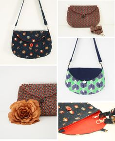 So many different possibilities with the Two Way Clutch sewing pattern.
