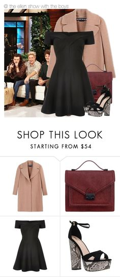 """""""•@ the ellen show with the boys•"""" by zaynismybaex ❤ liked on Polyvore featuring Rochas, Loeffler Randall, River Island and Miss KG"""
