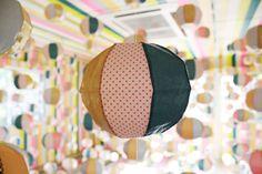 Washi tape installation close-up