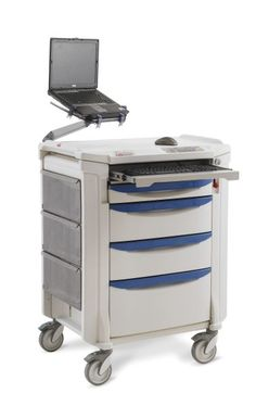 """Flexline Computer Cart - 42"""" high, select from (10) drawer pull colors."""