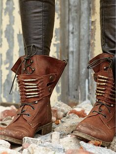 Free People Military Style Boots