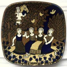 Arabia Annual Plate found in a thriftshop