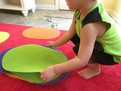"""placemats for """"spots"""" on the carpet for circle time, I did this in my Sunday school class the kids really love it and they are much more likely to sit still"""