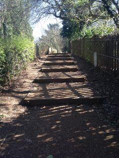 Footpath Hanwell,I walk here most days Beautiful Park, Railroad Tracks, Walks, Past, Sidewalk, Spaces, London, Green, Image