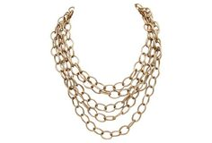 Five Strand Chain Link Necklace