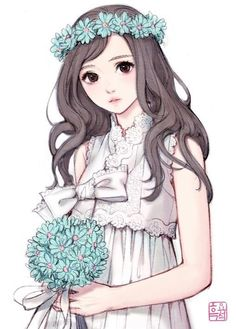 Exquisite Learn To Draw Manga Ideas Anime Drawing Design Someone asked me to go with him all my life, my answer was him - Manga Girl, Anime Art Girl, Anime Girls, Anime Style, Cute Illustration, Character Illustration, Wedding Illustration, Jonghyun, Shinee