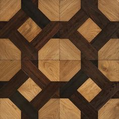 Engineered parquet flooring / solid / in wood / textured COUPLE ROYAL GRACE & RAINIER FLOOR TILES MARQUETRY Oscar Ono   Wood Manufacture