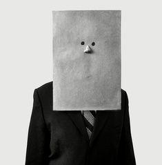 Irving Penn - Saul Steinberg In Nose Mask (1966) #mask