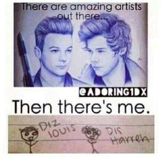 This is me in art class!! The only reason I even took art was cause I want to learn how to be a proper fangirl and provide my share of fan art the the fandom lol