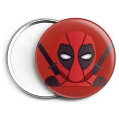 Espejo de bolsillo del heroe y mercenario mas gamberro de los comics, Deadpool
