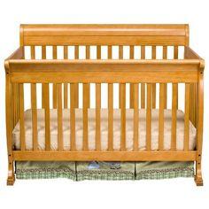 DaVinci Kalani 4-in-1 Convertible Crib with Toddler Rail, Honey Oak.  BABY BOY H. LOVE IT.
