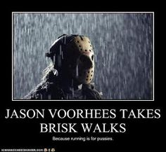 Jason Voorhees brisk walks Friday the 13th