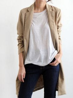 Camel coat and white.