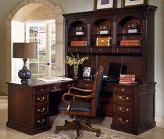 1000 Ideas About Office Desk With Hutch On Pinterest
