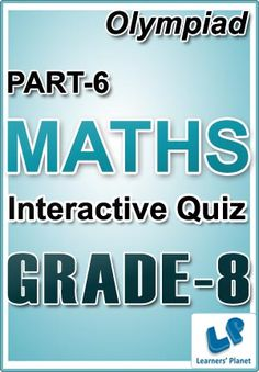 26 best interactive ebooks for grade 8 images on pinterest total questions 230 pattern of questions multiple choice questions price rs6100 8 olympiad maths part 6 interactive quizzes worksheets on fandeluxe Images
