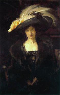 The Athenaeum - Clotilde with Hat (Joaquin Sorolla y Bastida - )