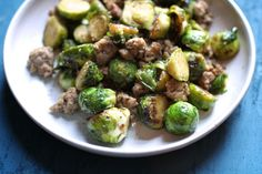 Brussels Sprouts with Sausage and Cumin. Easy and quick.