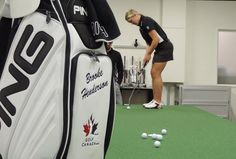It was a very busy day Thursday for Brooke Henderson of Smiths Falls. The newly minted pro spent the day hanging out at PING headquarters in Arizona