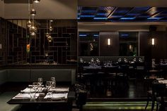 Great restaurant and bar ambience with a lighting concept designed by Stones and Walls