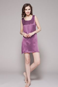 Natural and pure silk contains 18 amino acids for skin and hair, you will always look attractive. You definitely deserve this. $86 #nightgowns #silk #lilysilk