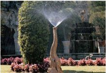 Tiny the Elephant Lawn Sculpture and Garden Sprinkler…