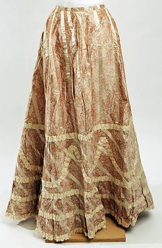 Petticoat  Date: 1890s Culture: American Medium: silk Dimensions: Length at CB: 40 in. (101.6 cm) Credit Line: Gift of Dr. Gilman Sterling Currier, 1953 Accession Number: C.I.53.15.2