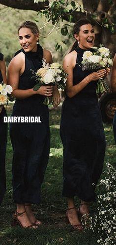 Honest A-line Halter Tea-length Sleeveless Bridesmaid Dress, FC5135#bridesmaiddresses #bridesmaiddress #bridesmaids #dressesformaidofhonor #weddingparty #2021bridesmaiddresses #2021wedding Backless Bridesmaid Dress, Simple Bridesmaid Dresses, Prom Dresses, Bridesmaids, Wedding Dresses, Best Friend Bridesmaid, Spring Festival, Tea Length, Dress Backs