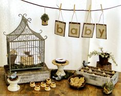 Feather nest/baby bird baby shower - tips, inspiration & pics