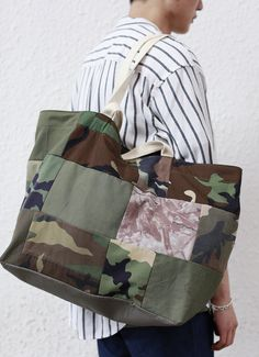 Camo Tote Bag by FirstEditionDesign on Etsy