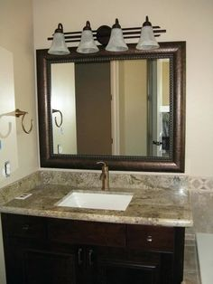 Beautiful and Elegant Mirror Frame Kits - Traditional - Bathroom - Salt Lake City - by Reflected Design - Frames for Existing Mirrors Wood Framed Bathroom Mirrors, Framed Mirror Design, Large Framed Mirrors, Frame Mirrors, White Vanity Mirror, Lighted Vanity Mirror, Vanity Mirrors, Mirror Cabinets, Mirror Set