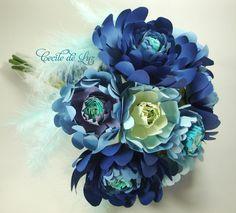 Blue Dream | Cecile de Luz - Flores e Arte em papel | Elo7