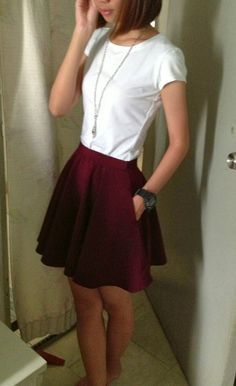 diy skater skirt - can't wait to try this. Love the first skater skirt I bought a few weeks ago and want to wear them all the time now.