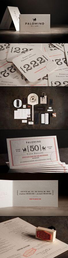 Palomino Restaurant Identity.