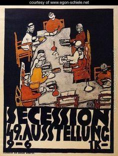 Forty Ninth Secession Exhibition Poster - Egon Schiele as Christ - www.egon-schiele.net