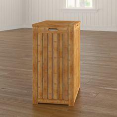 Winston Porter Edward Bamboo Cabinet Laundry Hamper & Reviews | Wayfair Bamboo Cabinets, Square Baskets, Laundry Hamper, Storage Organization, Metal, Table, Furniture, Design, Home Decor