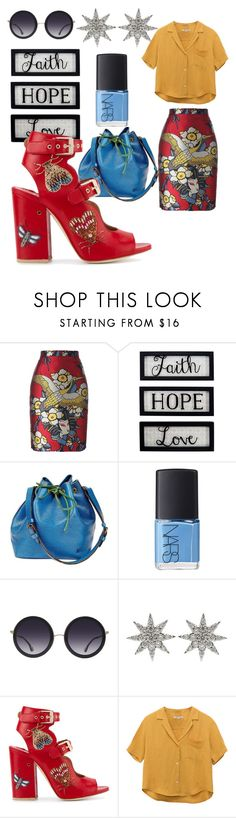 """""""The primary colos"""" by tharusmiles ❤ liked on Polyvore featuring Dsquared2, New View, Louis Vuitton, NARS Cosmetics, Alice + Olivia, Bee Goddess and Laurence Dacade"""