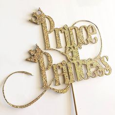 Gender Reveal Prince or Princess Topper by PaperandPop on Etsy