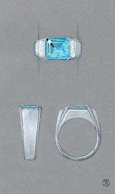 Jean-François Audouze / Créateur, antiquaire en bijoux anciens, négociant en pierres précieuses Men's Jewelry Rings, Jewelry Tools, Jewelry Art, Gemstone Jewelry, Jewelery, Jewelry Shop, Dress Design Drawing, Jewelry Design Drawing, Ring Sketch