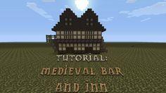 Minecraft - How to build a Medieval Bar & Inn - Tutorial