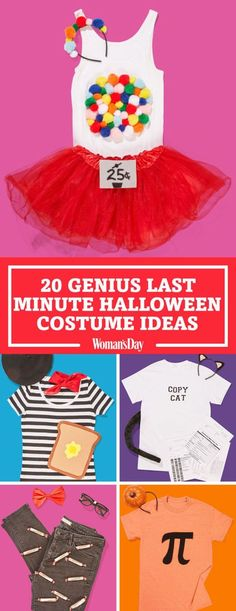 Get our best ideas for cheap and easy last-minute Halloween costumes. Here you'll find easy and fun DIY ideas for you, your guy, and family. Click through for the simple ideas.