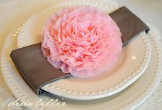 crepe paper peonies tutorial. You can add them to anything!! I was thinking for my wedding.