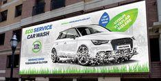 Eco Car Wash Billboard Templates